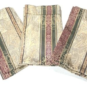 Croscill Set 3 Townhouse Valance Curtain Red Green